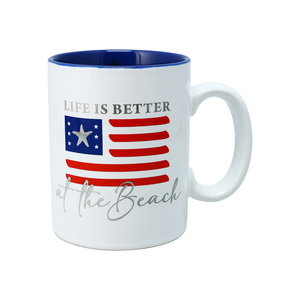 Beach by Red, White, & Blue Crew - 18 oz Mug