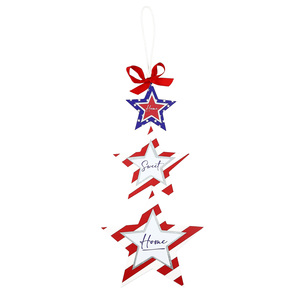 "Home by Red, White, & Blue Crew - 9.75"" x 24"" Hanging Plaque"