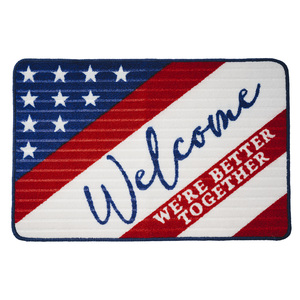 "Welcome by Red, White, & Blue Crew - 27.5"" x 17.75"" Floor Mat"