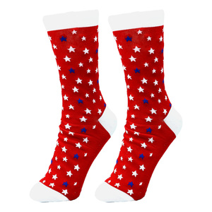 Camp by Red, White, & Blue Crew - S/M Unisex Cotton Blend Sock