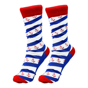 Lake by Red, White, & Blue Crew - M/L Unisex Cotton Blend Sock