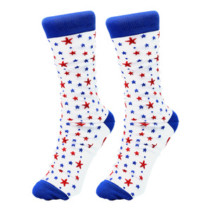 Beach by Red, White, & Blue Crew - S/M Unisex Cotton Blend Sock