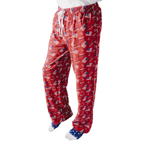 Nauti American by Red, White, & Blue Crew - S Red Unisex Lounge Pants