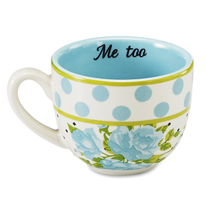 Aqua Spring Rose Bunch  by You & Me by Jessie Steele - Me Too 3oz Mug