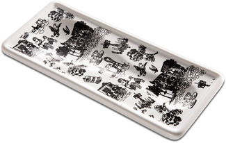 "Cafe Toile by You & Me by Jessie Steele - 3.75"" x 8.5"" Spoon Rest"