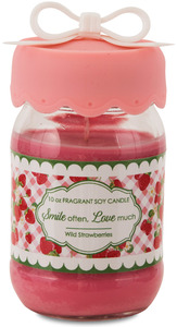 Smile by You & Me by Jessie Steele - 10 oz Soy Jar Candle Wild Strawberries Scent