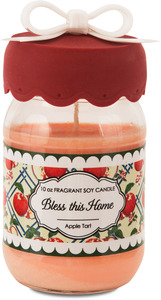 Bless this Home by You & Me by Jessie Steele - 10 oz Soy Jar Candle Apple Tart Scent
