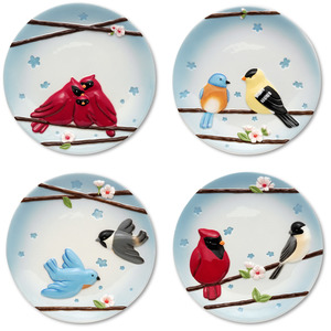 "Let's Celebrate by Peace Love & Birds - 6.5"" Plates (Set of 4)"