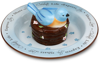 "Celebrate by Peace Love & Birds - 12"" Chip & Dip Bowl"