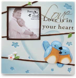 "Love by Peace Love & Birds - 6.5"" x 6.5"" Frame (3"" x 3"") Photo"