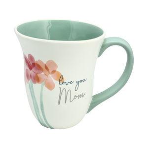 Mom by Rosy Heart - 16 oz Cup