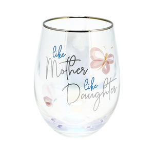 Mother & Daughter by Rosy Heart - 18 oz Stemless Wine Glass
