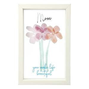"Mom by Rosy Heart - 5.5"" x 8.5"" Framed Glass Plaque"