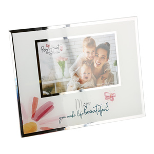 "Mom by Rosy Heart - 9.25"" x 7.25"" Frame (Holds 6"" x 4"" Photo)"