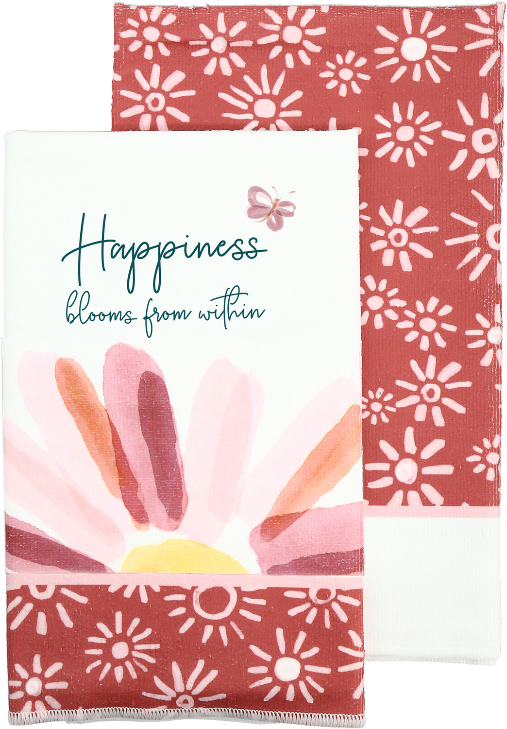 "Happiness by Rosy Heart - Happiness - Tea Towel Gift Set (2 - 19.75"" x 27.5"")"