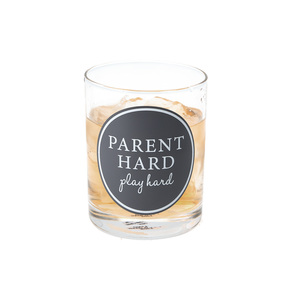 Parent Hard by A-Parent-ly - 11 oz Rocks Glass