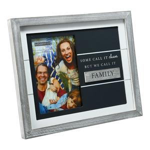 "Family by A-Parent-ly - 9.75"" x 8.25"" Frame (Holds 4"" x 6"" Photo)"