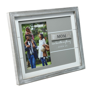 "Mom by A-Parent-ly - 9.75"" x 8.25"" Frame (Holds 4"" x 6"" Photo)"