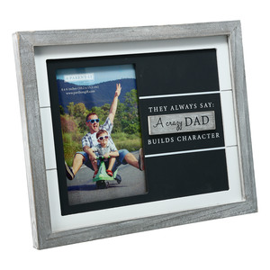 "Dad by A-Parent-ly - 9.75"" x 8.25"" Frame (Holds 4"" x 6"" Photo)"