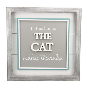 "The Cat by A-Parent-ly - 12"" Plaque"
