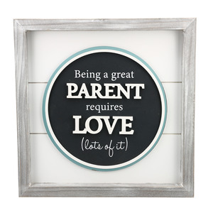 "Love by A-Parent-ly - 12"" Plaque"