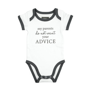 Advice by A-Parent-ly - 6-12 Months Gray Trimmed Bodysuit