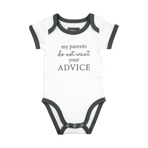 Advice by A-Parent-ly - 12-24 Months Gray Trimmed Bodysuit