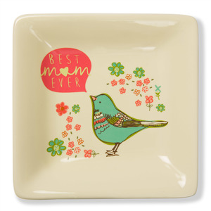 "Best Mom Ever by A Mother's Love by Amylee Weeks - 4.5"" Ceramic Keepsake Dish"