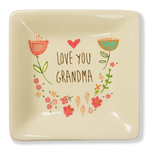 "Love You Grandma by A Mother's Love by Amylee Weeks - 4.5"" Ceramic Keepsake Dish"
