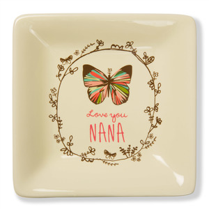 "Love You Nana by A Mother's Love by Amylee Weeks - 4.5"" Ceramic Keepsake Dish"