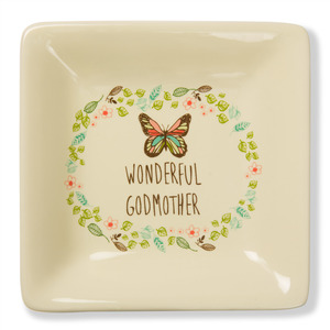 "Wonderful Godmother by A Mother's Love by Amylee Weeks - 4.5"" Ceramic Keepsake Dish"