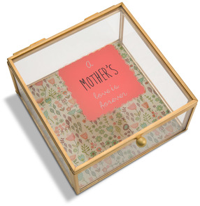 "Mother by A Mother's Love by Amylee Weeks - 4.25"" x 4.25"" Glass Keepsake Box"