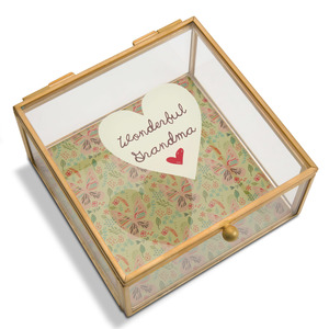 "Grandma by A Mother's Love by Amylee Weeks - 4.25"" x 4.25"" Glass Keepsake Box"