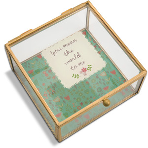 "Someone Special by A Mother's Love by Amylee Weeks - 4.25"" x 4.25"" Glass Keepsake Box"