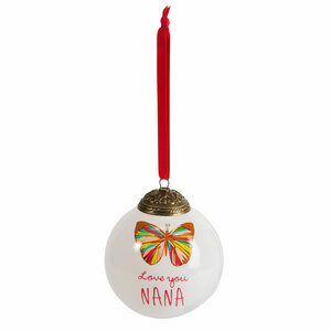 Nana by A Mother's Love by Amylee Weeks - 80mm Glass Ornament