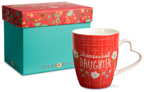 Treasured Daughter by A Mother's Love by Amylee Weeks - 11 oz Cup with Matching Gift Box