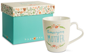Amazing Mother by A Mother's Love by Amylee Weeks - 11 oz Cup with Matching Gift Box