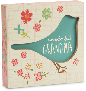 "Grandma by A Mother's Love by Amylee Weeks - 4.5"" x 4.5"" Plaque"