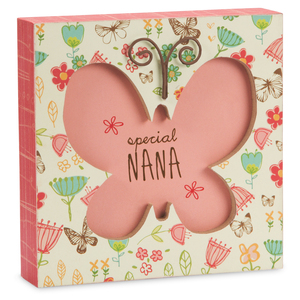"Nana by A Mother's Love by Amylee Weeks - 4.5"" x 4.5"" Plaque"