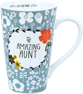 Aunt by Love You More - 18 oz Latte Cup
