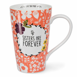 Sisters by Love You More - 18 oz Latte Cup