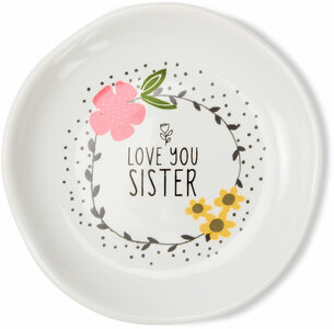 "Sister by Love You More - 2.5"" Keepsake Dish"