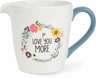 Love You More by Love You More - 1 Quart Ceramic Measuring Bowl