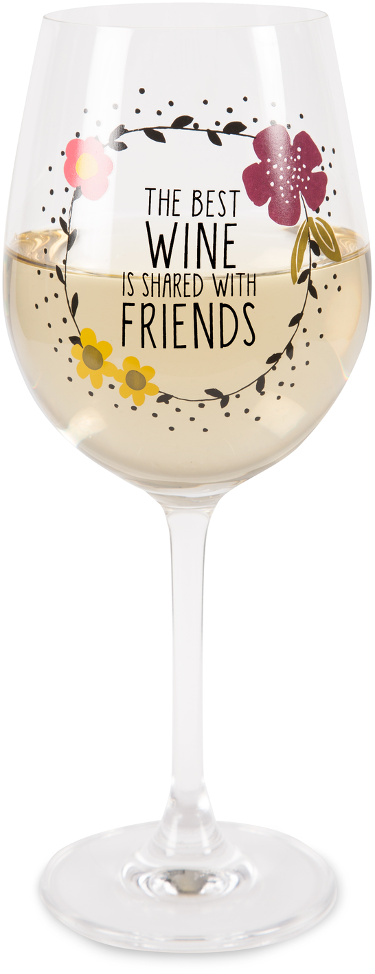 Friends by Love You More - Friends - 12 oz Crystal Wine Glass