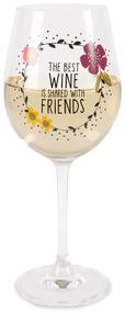 Friends by Love You More - 12 oz Crystal Wine Glass