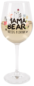 Mama Bear by Love You More - 12 oz Crystal Wine Glass