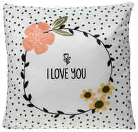 "I Love You by Love You More - 12"" x 12"" Micromink Pillow"