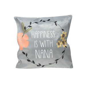 "Nana by Love You More - 12"" x 12"" Micromink Pillow"