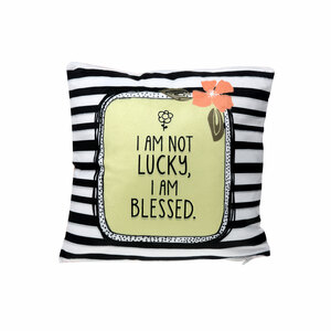 "Blessed by Love You More - 12"" x 12"" Micromink Pillow"