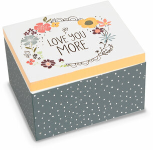 Love You by Love You More - 2.25 x 2 x 1.5 MDF Trinket  Box